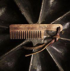 #bearcomb #beard http://bigredbeardcombs.com/product/big-red-22-comb-leather-lanyard-walnut/…