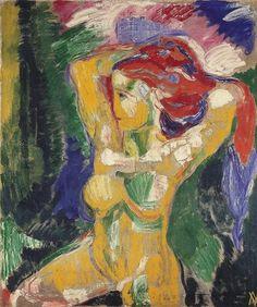 Bram van Velde (1895-1981) was een Nederlands kunstschilder. Hij was een natuurtalent, kopieerde al vroeg de oude meesters. Zijn werkgever had oog voor zijn grote talent en stimuleerde hem zich verder te ontwikkelen. Met diens steun vertrok Bram naar Duitsland en vestigde zich in de kunstenaarskolonie van Worpswede. Hier maakte hij behalve een aantal schilderijen in expressionistische stijl. Hij ontwikkelde een lyrisch abstracte stijl, met gebruik van sterk contrasterende kleuren. 3