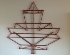 Items similar to Canadian Maple Leaf wall hanging made from Maple and Dark Walnut wood on Etsy