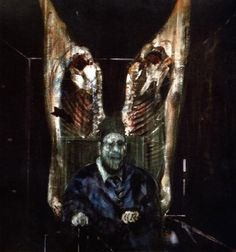 Francis Bacon  Figure Surrounded by Side of Beef O/C 1954