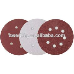 Customizable size hook and loop fastener sand paper disc ,aluminum oxide,silicon carbide
