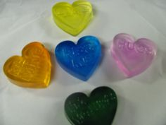 Valentine Conversation Hearts  5 per set by ETNFamilyProducts, $12.00