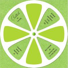Lime Slice Invitation #cards #invite #party