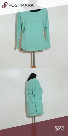 Stem organic cotton dolman sleeve 3/4 sleeve top, heathered mint Stem Tops Tees - Long Sleeve