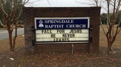 Church Signs of the Week: December 2014 Church Sign Sayings, Church Signs, Christian Jokes, Abba Father, Falls Church, Bible Art, Sign Quotes, Riddles, Life Hacks