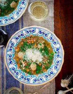 Chicken noodle italian wedding soup