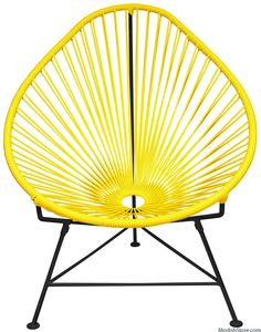 Innit Acapulco Chair - Black Frame Yellow Weave