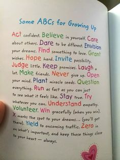 Abc's of Growing Up ❤ Self Care Bullet Journal, Bullet Journal Notebook, Bullet Journal Inspiration, Journal Pages, Bullet Journal Lettering Ideas, Bullet Journal Banner, Bullet Journal Ideas Pages, Journal Writing Prompts, Journal Quotes