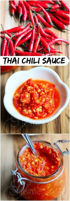 """Thai Chili Sauce ©️️ Jeanette's Healthy Living...""""If you like super spicy hot sauce, you have to give this homemade Fresh Thai Chili Garlic Sauce recipe a try.!"""""""
