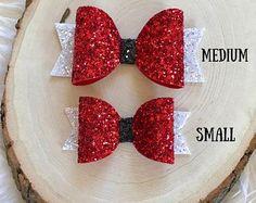 Christmas Hair Bow, Santa Hair Bow, Christmas Hair Clip, Santa Hair Clip, Santa Headband