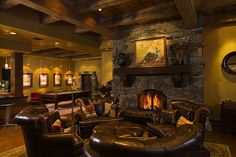 #InteriorDesign #Rustic #ManCave; Locati Architects. All they need is some custom monogrammed barware from Crystal Imagery! http://www.crystalimagery.com