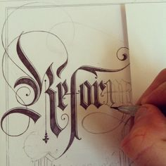#Calligraphy Pencil Sketching to outlining and filling with pigment ink pen...This takes more time to do, but is a soothing and relaxing pastime with beautiful results.