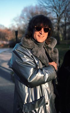 John Lennon - 1980.11.26 Walks In Central Park, New York, November 26, 1980. He Was In The Park To Film A Video For The Song 'Starting Over' From His Album, 'Double Fantasy' Photo By Allan Tannenbaum/Rolling Stone Magazine