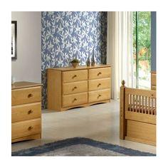 Essentials 6 Drawer Double Dresser Finish: Natural - http://delanico.com/dressers/essentials-6-drawer-double-dresser-finish-natural-589551334/