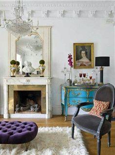 Eclectic livingroom decor