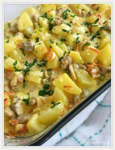 Кулинарные моменты: Тушеный картофель в сливках