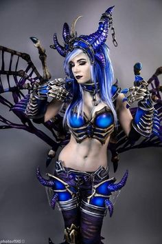 """cosplayheaven69: """" Cosplayer: Danielle Beaulieu. Country: United States. Cosplay: Sindragosa from World of Warcraft. Photo by: Photosnxs. https://m.facebook.com/Daniellecosplay/ """""""