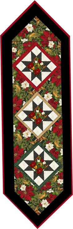Happy Holiday Table Runner Pattern PDF 430e by myquiltroom on Etsy