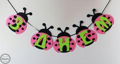Lady Bug Banner Birthday Banner Lady Bug by RaisinsPartySupplies