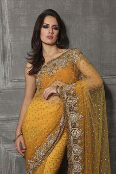 #Gorgeous Desi Wedding #Saree by http://www.MeenaBazaar.in/meenabazaar/IN/details/Heavy-Bridal-Net-Saree-51.html