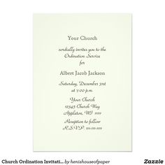 How to Write an Ordination Invitation