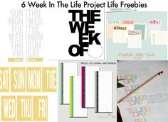 6 Week in the Life Project Life/Project365 freebies