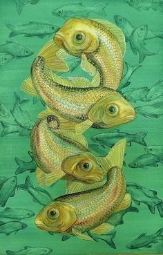 Original Painting Dancing Fish Coastal Decor by TheCoastalSoul, $225.00