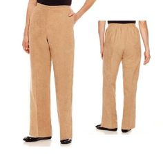 Alfred Dunner Pull on Pants El Dorado Saddle faux suede polyester size 10 NEW Women's Pants, Pull On Pants, Dress Pants, Harem Pants, Pajama Pants, Alfred Dunner, Slacks, Corduroy, Pants For Women