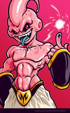 Absolute Evil by Winter-artwork on DeviantAr Dragon Ball Gt, Majin Boo Kid, Buu Dbz, Fan Art, Art Anime, Animes Wallpapers, The Villain, Cartoon Art, Character Art
