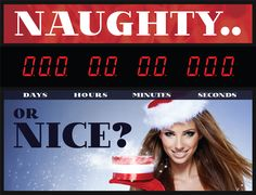 Christmas-have you been Naughty or Nice. Countdown to Christmas Clock