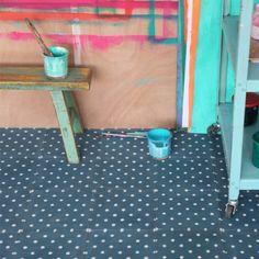 carreau de ciment petit pois blanc petit pan vivre en multicolore ai carrelage. Black Bedroom Furniture Sets. Home Design Ideas