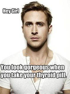 I might need to put this on my fridge after elevated TSH ruining my life cause I didn't take my thyroid medication for a while :)