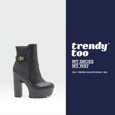 Uno dei must have di questa collezione  stivaletto nero con tacco alto e  para. Lavorazione matelassè della pelle.  trendytooshoes  belenshoes  love   shoes ... e042016476a