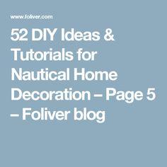 52 DIY Ideas & Tutorials for Nautical Home Decoration – Page 5 – Foliver blog