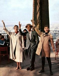 Bonjour, Paris! Kay Thompson, Fred Astaire and Audrey Hepburn in Funny Face (1957)