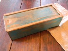 "Needle Box with Sliding Lid - ""OLD as Dirt Primitives"" from Notforgotten Farm on Etsy, $48.00"