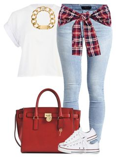 """""""€£¥"""" by livelifefreelyy ❤ liked on Polyvore featuring River Island, Object Collectors Item, Michael Kors and Converse"""