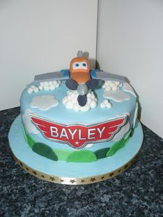 Name on cake. Much easier version for bs 3rd. Ill add runway and happy birthday on the base though