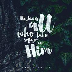 He shields all who take refuge in Him -- Psalm 18:30, via @niecie64