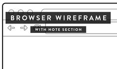 Browser, ipad & iphone wireframes