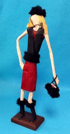 Fashion Figure created by students & Miss Hyer for visiting artist/fashion buyer Jaime S.
