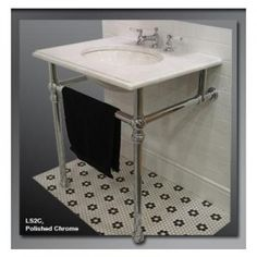 Undermount Wall Sink With Chrome Legs