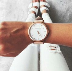 Image via We Heart It https://weheartit.com/entry/162059466/via/1396771 #clothes #fashion #luxury #shoes #summer #watch #white #outift
