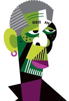 Chicquero Blog > Pablo Lobato graphic design illustration - morgan freeman