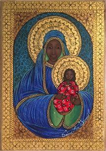 Madonna Art, Madonna And Child, Catholic Art, Religious Art, African American Art, African Art, Divine Mother, Mother Mary, Black History Books