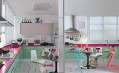 Resultado de imagem para cozinha com móveis planejados verde