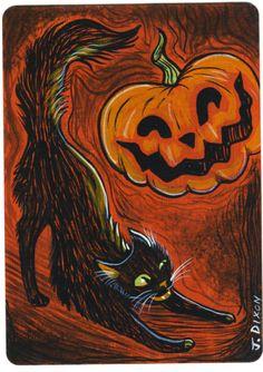 Halloween Friends by Crowtesque on DeviantArt Vintage Halloween Cards, Retro Halloween, Halloween Signs, Holidays Halloween, Spooky Halloween, Happy Halloween, Halloween Stuff, Halloween Ideas, Scary Scarecrow