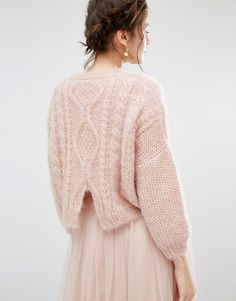 Willow and Paige   Relaxed Cable Knit Jumper
