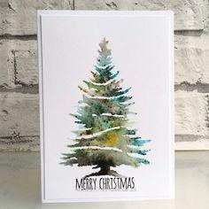 New Diy Christmas Paintings Xmas Trees Ideas Painted Christmas Cards, Watercolor Christmas Cards, Christmas Drawing, Diy Christmas Cards, Noel Christmas, Christmas Paintings, Watercolor Cards, Xmas Cards, Handmade Christmas