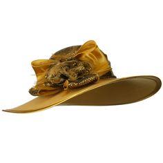 Sequin Crown Wool Felt Hat - Mustard Gold